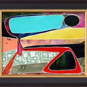 "Robin Arthur's (RobiniArt) Abstract titled ""Rock Wall Step"""